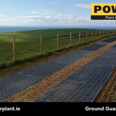 Ground Guards Multitrack Across Corn Field Power Plant Hire Wexford Wicklow