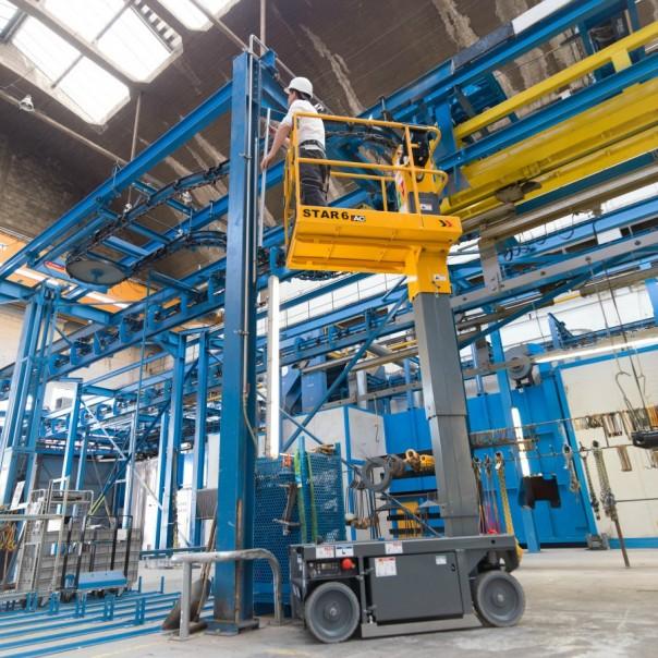 haulotte star 6 scissor lift hire wexford wicklow power plant hire 3