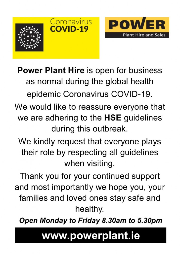 POWER PLANT HIRE OPEN DURING CORONAVIRUS COVID 19