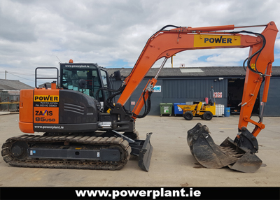 HITACHI ZAXIS 85 EXCAVATOR HIRE WEXFORD WICKLOW POWER PLANT HIRE 2020