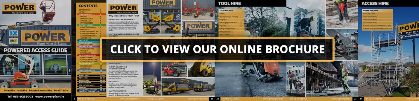 Power Plant Hire Powered Access Guide 2020